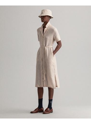 Gant Kadın Keten Elbise Bej